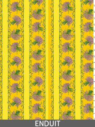 Rayure lavande jaune - Enduit_regle