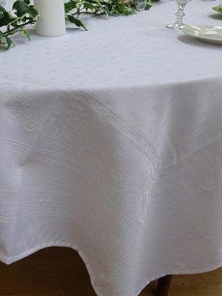Nappe Jacquard Durance Blanc