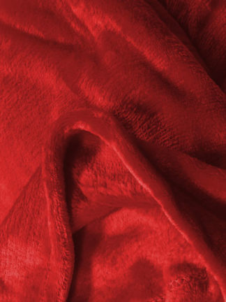 Plaid microfibre Rouge