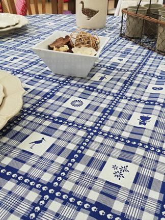 Au cœur de l'Alsace bleu - nappe enduite