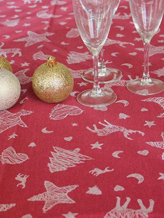 nappe enduite - caribou rouge