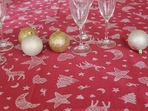 nappe coton - caribou rouge