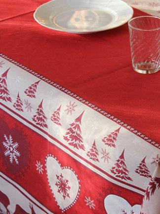 Méribel rouge - nappe enduite