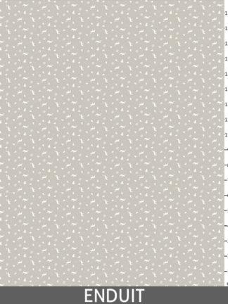 Rennes et Edelweiss imprimés sur fond gris / taupe